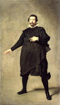 Portrait of the Buffoon Pablo de Valladolid by Diego Rodriguez de Silva y Velazquez