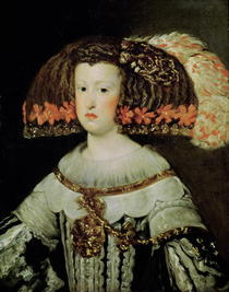 Portrait of Queen Maria Anna of Spain by Diego Rodriguez de Silva y Velazquez