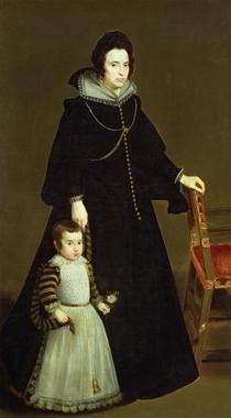 Dona Antonia de Ipenarrieta y Galdos und ihr Sohn von Diego Rodriguez de Silva y Velazquez