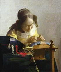 Die Spitzenklöpplerin von Jan Vermeer