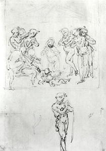 Figural Studies for the Adoration of the Magi by Leonardo Da Vinci
