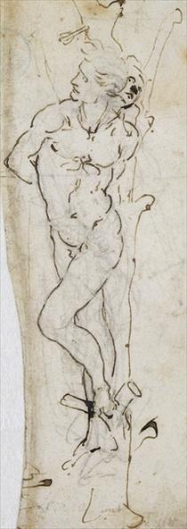 Study of St. Sebastian by Leonardo Da Vinci