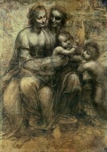 The Virgin and Child with SS. Anne and John the Baptist by Leonardo Da Vinci