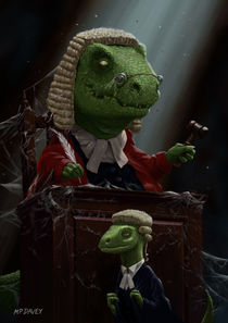 Dinosaur Judge in UK Court of Law von Martin  Davey