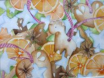 Malen-am-meer-weihnachten-lebkuchen-orangen-aquarell