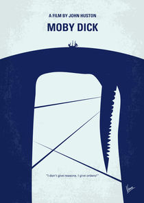 No267 My MOBY DICK minimal movie poster von chungkong