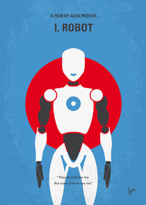 No275 My I ROBOT minimal movie poster von chungkong