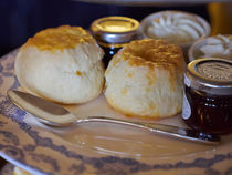 Home Made Scones with Jam and Cream by Louise Heusinkveld