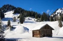 Hütte im Kleinwalsertal bei Baad Österreich im Winter by Matthias Hauser