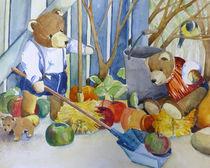 Malen-am-meer-teddys-aquarell