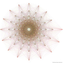 Geometric Star Algorithmic Art by Jim Plaxco