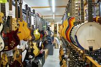 Guitar Store, Barcelona by Gerry Walden