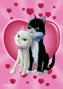 Romantic-cats-on-heart-design