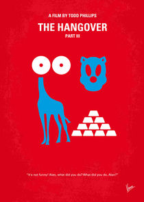 No145 My THE HANGOVER Part III minimal movie poster von chungkong