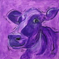 "the mauve cow ""Klara"" by Annett Tropschug"