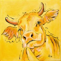 "the yellow cow ""Lotte"" by Annett Tropschug"