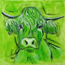 "The green Cow ""Max"" by Annett Tropschug"
