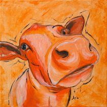 "the orange Cow ""Elsa"" by Annett Tropschug"