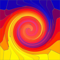 Mosaic Swirl von Robert Gipson