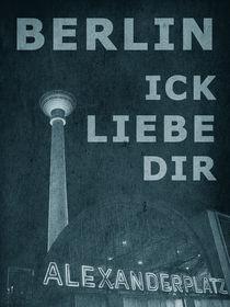 BERLIN LIEBE - blau by crazyneopop
