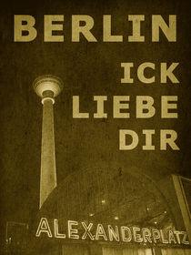 BERLIN LIEBE - gelb by crazyneopop