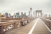 Brooklyn Bridge and New York Skyline von tfotodesign