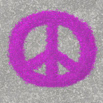 Fuchsia Splat Painted Peace Sign by Michelle Brenmark