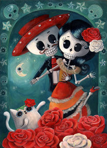 Mexican Skeleton Lovers von Monika Suska