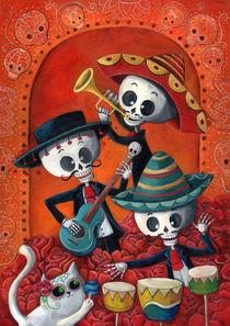 Mexican Skeleton Musicians by Monika Suska