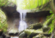 Falling Waters at Matthiessen State Park by Jim Plaxco