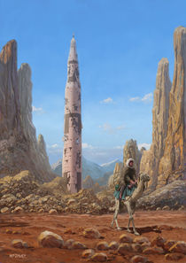 Old Saturn V rocket in desert by Martin  Davey