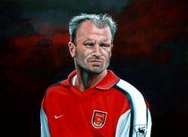 Dennis Bergkamp Arsenal painting von Paul Meijering