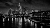 Skyline and boardwalk at night (Frankfurt / Main) von Andreas Sachs