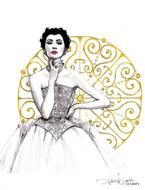 Vintage Balenciaga Illustration von Tania Santos