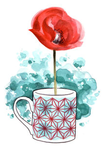 CUP FLOWER I by Ester Tarabal