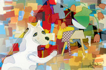 Bad Dog Cubism by Angela Allwine