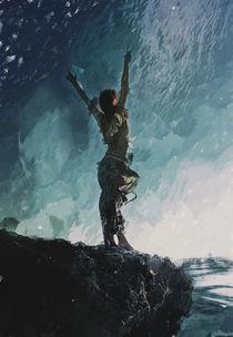 Edge - Digital Mixed Media Fantasy by Galen Valle