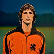 Johan Cruyff Oranje painting by Paul Meijering