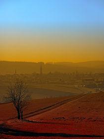 'Dunst, Skyline, Sonnenuntergang | Landschaftsfotografie' by Patrick Jobst