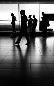 Silhouette at airport by creativemarc