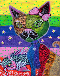 The Cat and The Koi von Laura Barbosa