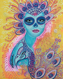 Peacock-sugar-skull-by-laura-barbosa-2013