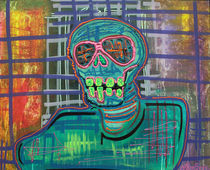 Psychedelic-skull-by-laura-barbosa