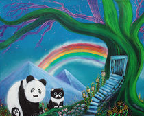 The Panda The Cat and The Rainbow by Laura Barbosa
