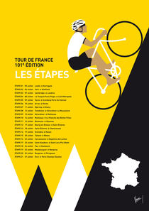 MY TOUR DE FRANCE MINIMAL POSTER 2014 ETAPES by chungkong