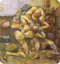 zwei Männer by alfons niex
