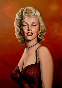 Marilyn Monroe painting 6 by Paul Meijering