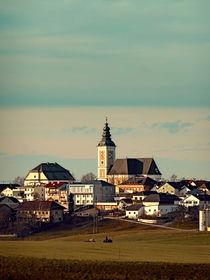 'Dorf, Panorama, Wolkenhimmel | Landschaftsfotografie' by Patrick Jobst