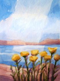 Blumen an der See von Lutz Baar