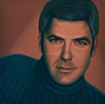 George Clooney painting by Paul Meijering